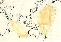 Flesh-footed Shearwater map
