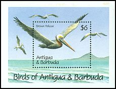 Cl: Brown Pelican (Pelecanus occidentalis)(Repeat for this country)  SG 1456a (1990)