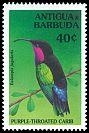 Cl: Purple-throated Carib (Eulampis jugularis)(Repeat for this country)  SG 2052 (1994) 100