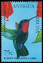 Cl: Purple-throated Carib (Eulampis jugularis)(Repeat for this country)  SG 2140 (1995) 110