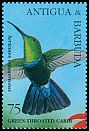 Cl: Green-throated Carib (Eulampis holosericeus)(Repeat for this country)  SG 2145 (1995) 110