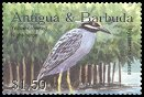 Cl: Yellow-crowned Night-Heron (Nyctanassa violacea)(Repeat for this country)  SG 3694 (2002) 175