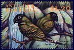 Cl: Nanday Parakeet (Nandayus nenday)(Out of range and no other stamp)  SG 2977 (2000) 75