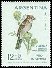 Cl: Rufous-collared Sparrow (Zonotrichia capensis) <<Chingolo>>  SG 1077 (1962) 300