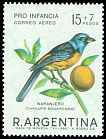 Cl: Blue-and-yellow Tanager (Thraupis bonariensis) <<Naranjero>>  SG 1192 (1967) 275