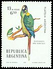 Cl: Golden-collared Macaw (Primolius auricollis) <<Guacamayo>>  SG 1518 (1976) 150
