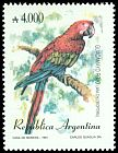 Cl: Red-and-green Macaw (Ara chloroptera) <<Guacamayo rojo>>  SG 2276 (1991) 250