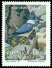 Cl: Belted Kingfisher (Ceryle alcyon) <<Martin pescador>> (Out of range)  SG 2344 (1993) 275