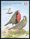 Cl: Long-tailed Meadowlark (Sturnella loyca) <<Loica com&uacute;n>>  SG 3288 (2008)  [4/50]