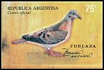 Cl: Eared Dove (Zenaida auriculata) <<Torcaza>>  SG 2733 (2000) 275