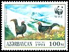 Cl: Caucasian Grouse (Tetrao mlokosiewiczi) <<QAFQAZ TETRASI>> (Endemic or near-endemic)  SG 180 (1994) 140