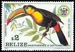 Cl: Keel-billed Toucan (Ramphastos sulfuratus)(Repeat for this country)  SG 662 (1981) 1400