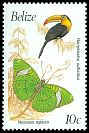 Cl: Keel-billed Toucan (Ramphastos sulfuratus)(Repeat for this country)  SG 1068A (1990) 80