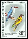 Cl: Woodland Kingfisher (Halcyon senegalensis) <<Martin-pecheur>>  SG 864 (1982) 160