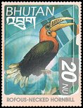 Cl: Rufous-necked Hornbill (Aceros nipalensis)(Repeat for this country)  SG 1514 (1999) 90