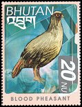Cl: Blood Pheasant (Ithaginis cruentus)(Repeat for this country)  SG 1522 (1999) 90