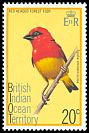 Cl: Red-headed Fody (Foudia eminentissima) SG 64 (1975) 125