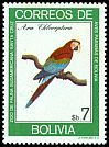 Cl: Red-and-green Macaw (Ara chloroptera) SG 1054 (1981) 110