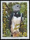 Cl: Harpy Eagle (Harpia harpyja) <<Aguila arpia>> (Repeat for this country)  SG 1739 (2006) 375 [4/9]