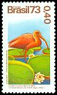 Cl: Scarlet Ibis (Eudocimus ruber) <<Guara>> (Repeat for this country)  SG 1478 (1973) 250