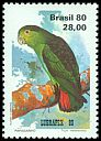 Cl: Brown-backed Parrotlet (Touit melanonota) <<Papagainho>>  SG 1869 (1980) 525