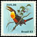 Cl: Red-breasted Toucan (Ramphastos dicolorus) <<Tucano-de-bico-verde>>  SG 2017 (1983) 425