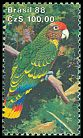 Cl: Red-tailed Parrot (Amazona brasiliensis)(Endemic or near-endemic)  SG 2340a (1988)