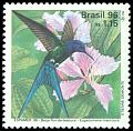 Cl: Swallow-tailed Hummingbird (Eupetomena macrourus) <<Beija-flor-de-tesoura>>  SG 2758 (1996) 500