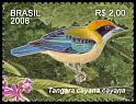 Cl: Burnished-buff Tanager (Tangara cayana) SG 3542a (2008) 550 [4/59]