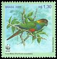 Cl: Blue-throated Parakeet (Pyrrhura cruentata) <<Fura-Mato>>  SG 3207c (2001) 250 [1/10]