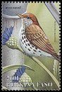 Cl: Wood Thrush (Hylocichla mustelina)(Out of range and no other stamp)  SG 1206i (1998) 125