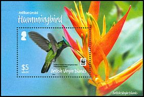 Cl: Antillean Crested Hummingbird (Orthorhyncus cristatus)(Repeat for this country)  SG 1282 (2014) 900 [9/1]