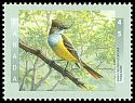 Cl: Great Crested Flycatcher (Myiarchus crinitus) <<Tyran huppe>>  SG 1780 (1998) 140