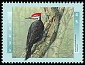 Cl: Pileated Woodpecker (Dryocopus pileatus) <<Grand pic>>  SG 1675 (1996) 190