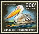 Cl: Great White Pelican (Pelecanus onocrotalus)(Repeat for this country) (I do not have this stamp)  new (2014)