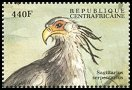 Cl: Secretarybird (Sagittarius serpentarius)(Repeat for this country)  new (2000)
