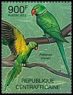 Cl: Rose-ringed Parakeet (Psittacula krameri)(I do not have this stamp)  new (2012)  [7/58]