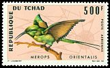 Cl: Green Bee-eater (Merops orientalis) SG 167 (1966) 1400 [3/12]