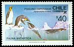 Cl: Emperor Penguin (Aptenodytes forsteri) <<Pinguino emperador>> (Repeat for this country)  SG 1068 (1986) 140