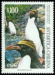 Cl: Macaroni Penguin (Eudyptes chrysolophus) <<Pinguino macaroni>> (Repeat for this country)  SG 1640 (1995) 180
