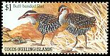 Cl: Buff-banded Rail (Gallirallus philippensis)(Repeat for this country)  SG 134 (1985) 225