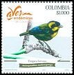 Cl: Gold-ringed Tanager (Bangsia aureocincta)(Endemic or near-endemic)  new (2018)