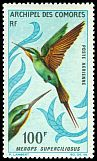 Cl: Madagascar Bee-eater (Merops superciliosus) SG 65 (1967) 1700