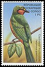 Cl: Four-coloured Bushshrike (Telophorus viridis) <<Gladiateur multicolore>>  SG 1564 (2000)  [5/27]