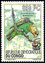 Cl: Brown-necked Parrot (Poicephalus robustus)(I do not have this stamp)  new (2012)
