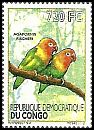 Cl: Fischer's Lovebird (Agapornis fischeri)(Out of range) (I do not have this stamp)  new (2012)