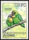 Cl: Black-cheeked Lovebird (Agapornis nigrigenis)(Out of range) (I do not have this stamp)  new (2012)