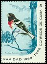 Cl: Rose-breasted Grosbeak (Pheucticus ludovicianus) SG 1290d (1965) 160 [3/13]