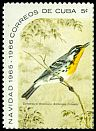 Cl: Yellow-throated Warbler (Dendroica dominica) SG 1291a (1965) 200 [3/13]