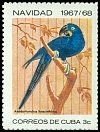 Cl: Hyacinth Macaw (Anodorhynchus hyacinthinus)(Out of range)  SG 1557 (1967) 125